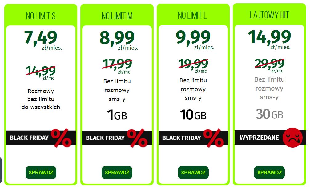 lajt mobile promocja na black friday