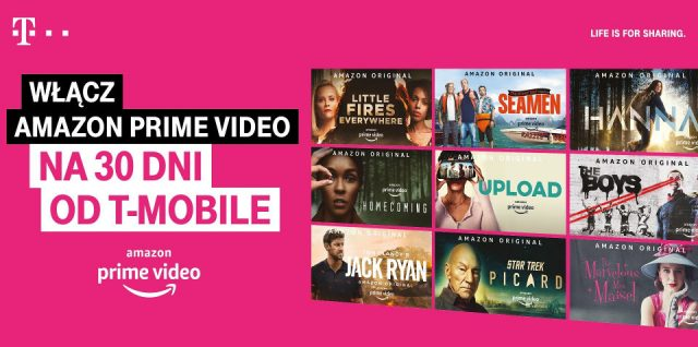 amazon prime video w t-mobile za darmo