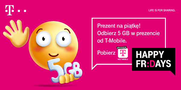 t-mobile abonament happy fridays 5 gb za darmo abonament mix