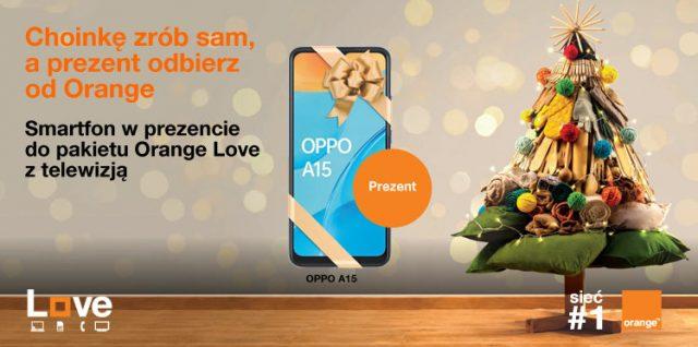 smartfon w prezencie do pakietu orange love z telewizją oferta świąteczna 2020