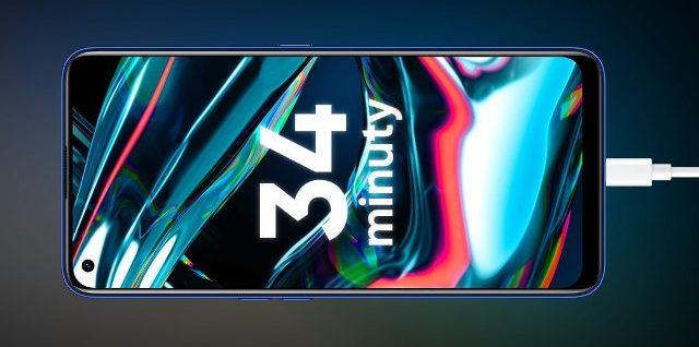 Realme 7 Pro ma pojemną baterię 4500 mAh i pozwala na super szybkie ładowanie