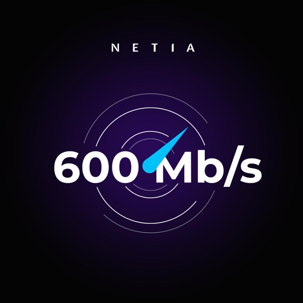 Netia przyśpiesza internet światłowodowy do 600 Mb/s.