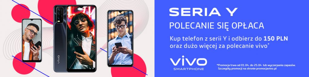 premia za polecanie smartfonów vivo. cashback kody blik do 150 zł
