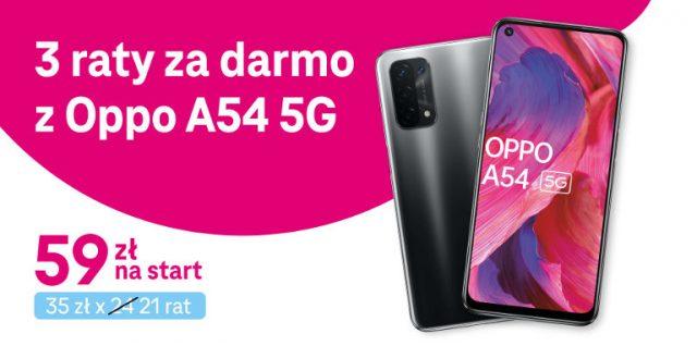 oppo a54 5g w t-mobile w promocji 3 raty za darmo